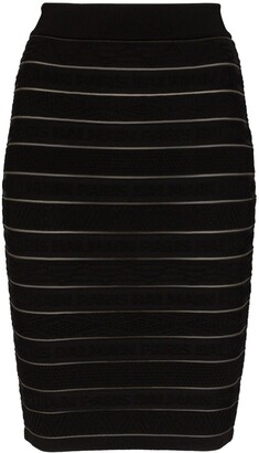 Balmain Stretch-Knit Skirt