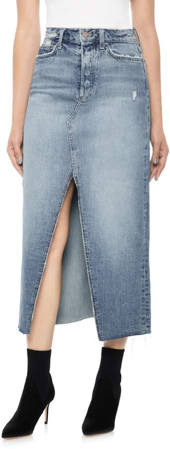 Joe's Jeans High Waist Long Denim Skirt
