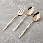 Crate & Barrel Harper Rose Gold 3-Piece Serving Set