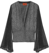 Missoni Metallic Knitted Cardigan - Silver