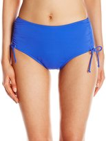 Caribbean Joe Women's Adjustable Brief Bikini Bottom
