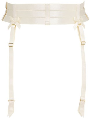 Bordelle Elastic Strap Satin Suspender Belt