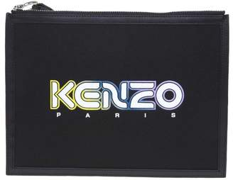 Kenzo Flat Bag In Neoprene With Logo