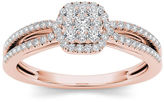 MODERN BRIDE 3/8 CT. T.W. Diamond 10K Rose Gold Engagement Ring