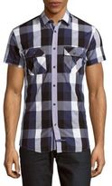 English Laundry Checked Cotton Shirt