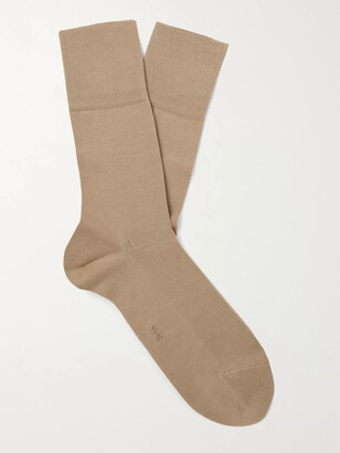 Falke Tiago City Fil d'Ecosse Cotton-Blend Socks - Men - Brown