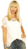 Show Me Your Mumu Camden Top in Flower Chain Lace Cream
