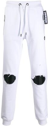Philipp Plein Distressed Track Pants