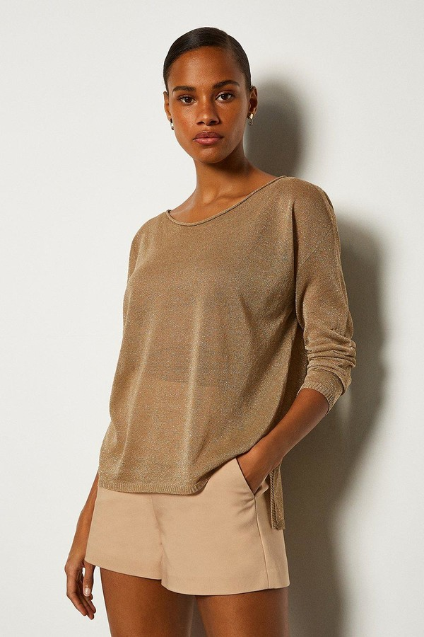 Karen Millen Scoop Neck Knitted Jumper