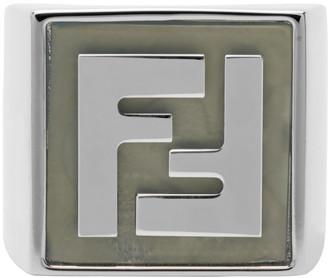 Fendi Silver Forever Signet Ring