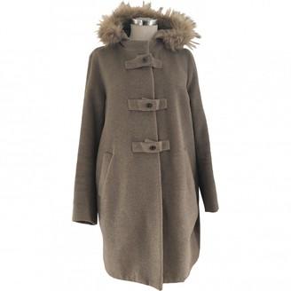 Gerard Darel Beige Wool Coat for Women