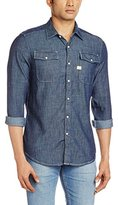 G Star Men's Landoh Long Sleeve Shirt Blue