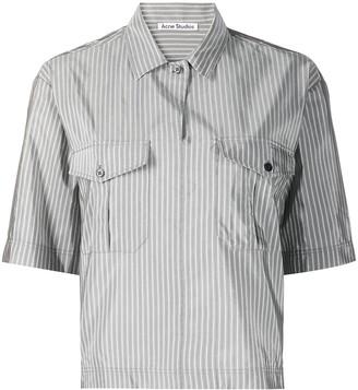 Acne Studios Striped Short-Sleeve Shirt