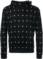 McQ by Alexander McQueen swallow drawstring hoodie - men - Cotton - M