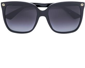 Gucci Oversize Gradient Square Sunglasses