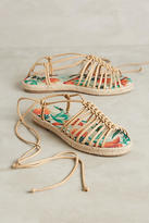 Anthropologie Vicenza Knotted Print Sandals