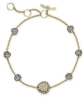 Nadri Pave Line Bracelet in 18K Gold & Ruthenium Sterling Silver