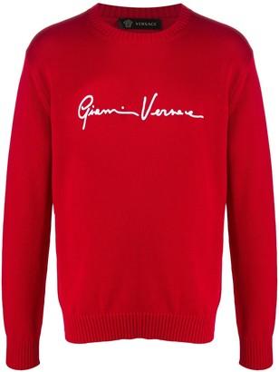 Versace Signature Logo Jumper