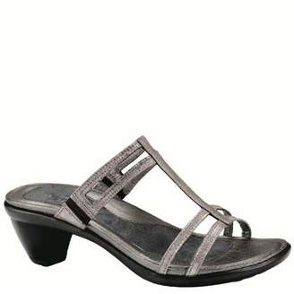 Naot Footwear Women's Loop Slide Sandal Silver Threads 4 M US