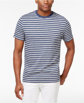 Club Room Men's Crew-Neck Striped T-Shirt, Only at Macy's