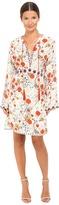 The Kooples Hippy Flower Print Silk Dress Women's Dress