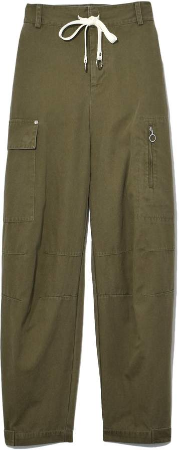 Alexander Wang Garment Washed Cotton Twill Cargo Pant in Cargo