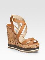 Cube Platform Wedge Sandals
