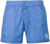 Moncler logo plaque swimming trunks - men - Polyamide/Polyester - M