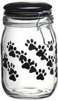 Global Amici Pet Paw Hermetic Glass Storage Jar