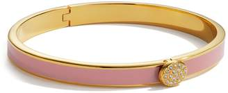 Halcyon Days Yellow Gold and Enamel Pave Button Bangle