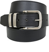 Yours Clothing D555 Black Kingsize Leather Belt With Silver Buckle