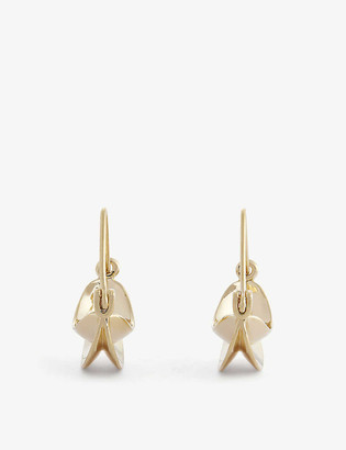 Anissa Kermiche Paniers Dores mini 18ct yellow gold-plated hoop earrings