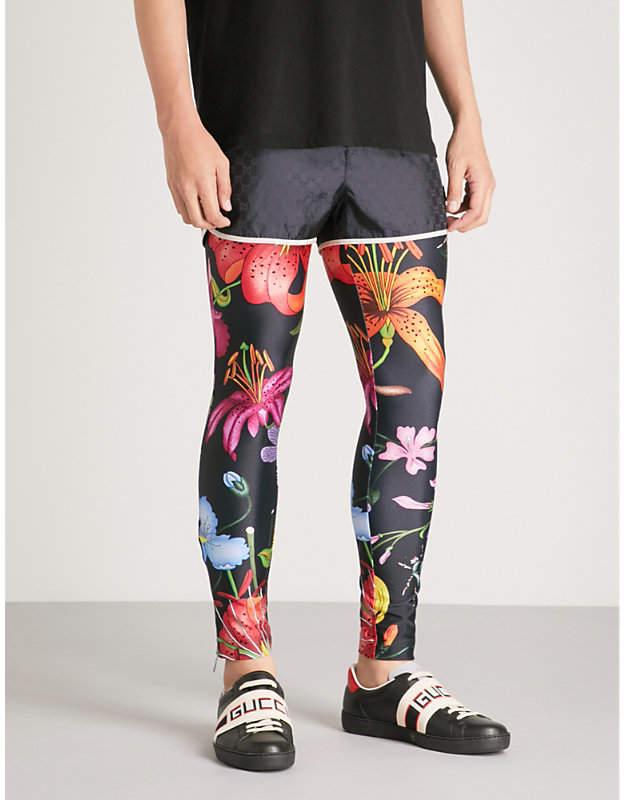 Gucci Macro Flora stretch-jersey leggings