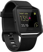 Fitbit Unisex Blaze Black Elastomer Band Fitness Watch 40mm