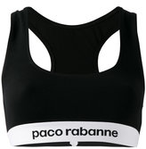 Paco Rabanne sports bra - women - Polyamide/Spandex/Elastane/Viscose - L