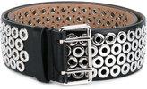 Alaia Eyelet Embellished Leather Belt