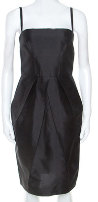 Dolce & Gabbana Black Taffeta Sleeveless Short Dress S