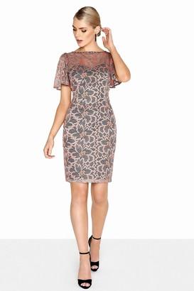 Paper Dolls Coral Bodycon Dress