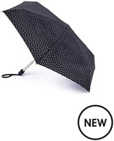 Lulu Guinness Black Foil Lips Umbrella
