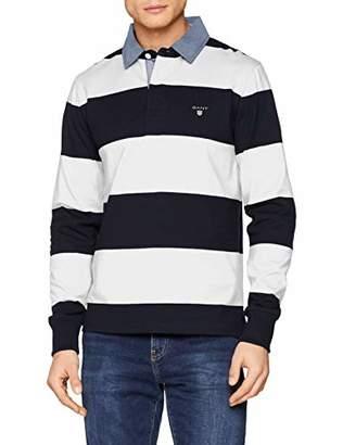Gant Men's Original Barstripe Heavy Rugger Polo Shirt,X