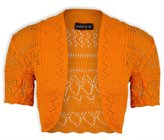 Exciteclothing Girls Crochet Bolero Shrug Kids Knitted Short Sleeve Cardigan New Age 2-13 Years