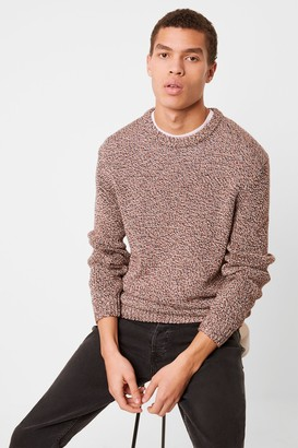 French Connenction Mixed Cotton Chain Yarn Jumper