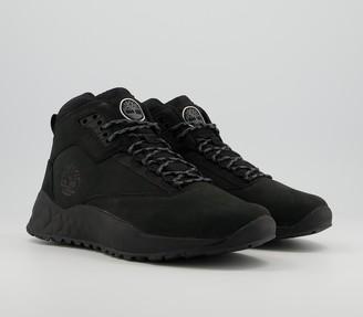 Timberland Solar Wave Mid Hiker Boots Blackout Nubuck