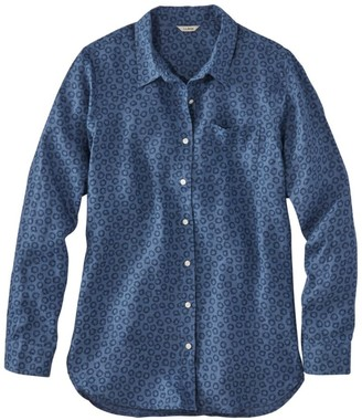 L.L. Bean Women's Premium Washable Linen Shirt, Tunic Print