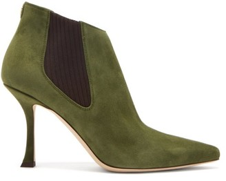 Jimmy Choo Maiara 90 Suede Ankle Boots - Khaki
