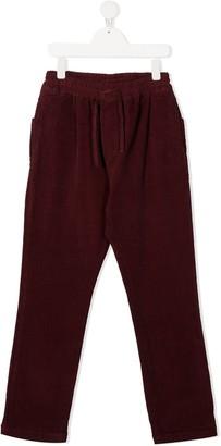 Paolo Pecora Kids Velvet Drawstring Trousers