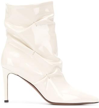 L'Autre Chose Creased Detail Boots