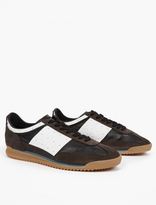 Maison Margiela Brown Leather Running Sneakers
