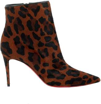 Christian Louboutin Black/brown Pony Hair Ankle Boots
