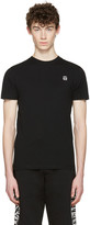 McQ by Alexander McQueen Black Rubberized Logo T-Shirt